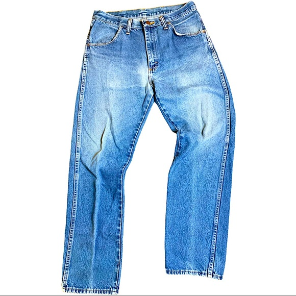 Vintage Rustler Denim Blue Jeans Faded Men's 30x29